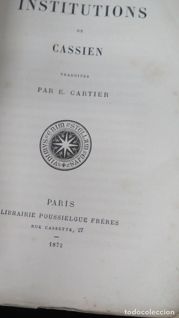 Libros antiguos: 1872.- INSTITUTIONS DE CASSIEN - Foto 2 - 194230021