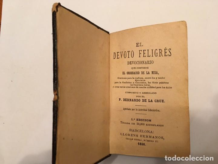 Libros antiguos: libro el devoto feligres,antiguo de 1886 es 1ª edicion tiene 134 años ver fotos - Foto 2 - 194230128