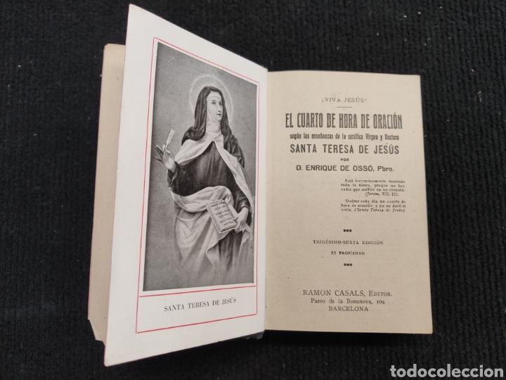 Libros antiguos: LIBRO EL CUARTO DE HORA DE ORACIÓN - Foto 5 - 194233637