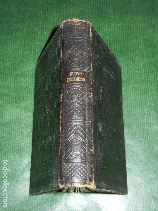 NUOVO TESTAMENTO, TRAD. DIODATI LONDRES 1866 - SOCIETA BIBLICA BRITANNICA E FORESTIERA - EN ITALIANO (Libros Antiguos, Raros y Curiosos - Religión)