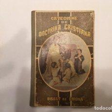 Libros antiguos: CATECISMO, DE DOCTRINA CRISTIANA, EN CATALAN, BISBAT DE GIRONA, DE AÑO 1923. Lote 194235983
