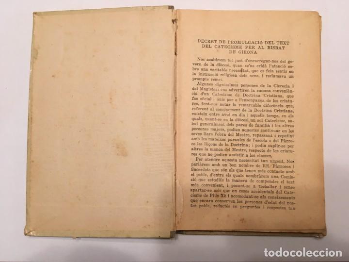 Libros antiguos: catecismo, de doctrina cristiana, en catalan, bisbat de girona, de año 1923 - Foto 3 - 194235983