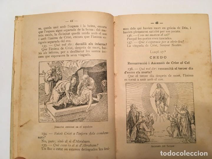 Libros antiguos: catecismo, de doctrina cristiana, en catalan, bisbat de girona, de año 1923 - Foto 5 - 194235983