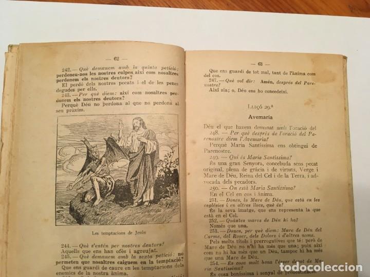 Libros antiguos: catecismo, de doctrina cristiana, en catalan, bisbat de girona, de año 1923 - Foto 6 - 194235983