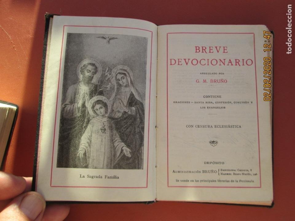 Libros antiguos: BREVE DEVOCIONARIO - G. M. BRUÑO 1931. - Foto 2 - 194236087