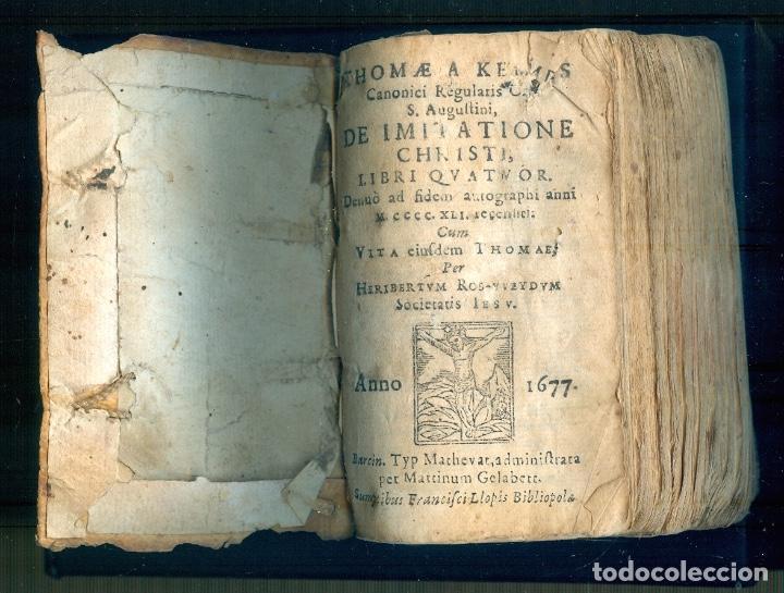 NUMULITE L1224 THOMAE KEMPIS DE IMITATIONE CHRISTI LIBRI QUATUOR ANNO 1667 BARCINO FRANCISCI LLOPIS (Libros Antiguos, Raros y Curiosos - Religión)