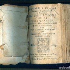 Libros antiguos: NUMULITE L1224 THOMAE KEMPIS DE IMITATIONE CHRISTI LIBRI QUATUOR ANNO 1667 BARCINO FRANCISCI LLOPIS. Lote 194237280