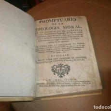 Libros antiguos: PROMPTUARIO DE LA THEOLOGIA MORAL . FRANCISCO LARRAGA MADRID 1760 - ENCUADERNACIÓN PIEL 21 X 16 CM.. Lote 194263841