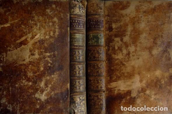 BIBLIA SACRA VULGATAE EDITIONIS, SIXTI V ET CLEMENTIS VIII IUSSU RECOGNITA ATQUE EDITA. 2 T. 1767. (Libros Antiguos, Raros y Curiosos - Religión)