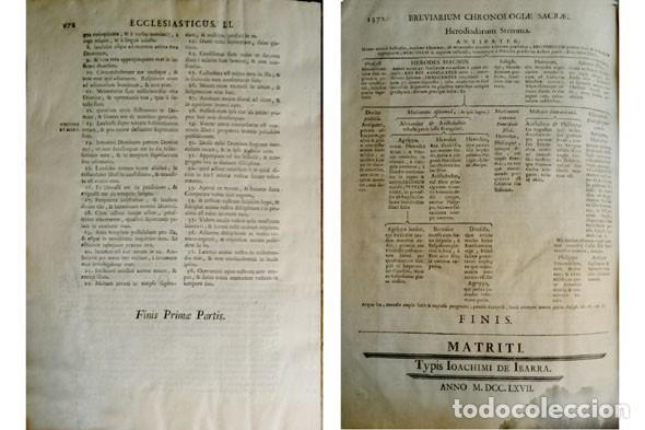 Libros antiguos: Biblia Sacra Vulgatae editionis, Sixti V et Clementis VIII iussu recognita atque edita. 2 T. 1767. - Foto 4 - 194272131