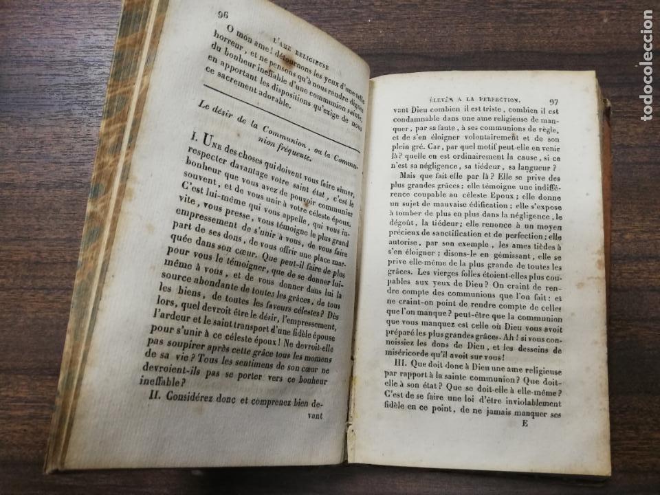 Libros antiguos: L´AME RELIGIEUSE, ELEVEE A LA PERFECTION. EXERCICES DE LA VIE INTERIEURE. HUITIEME EDITION. 1828. - Foto 4 - 194280706