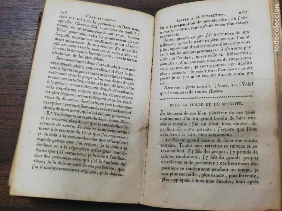Libros antiguos: L´AME RELIGIEUSE, ELEVEE A LA PERFECTION. EXERCICES DE LA VIE INTERIEURE. HUITIEME EDITION. 1828. - Foto 5 - 194280706