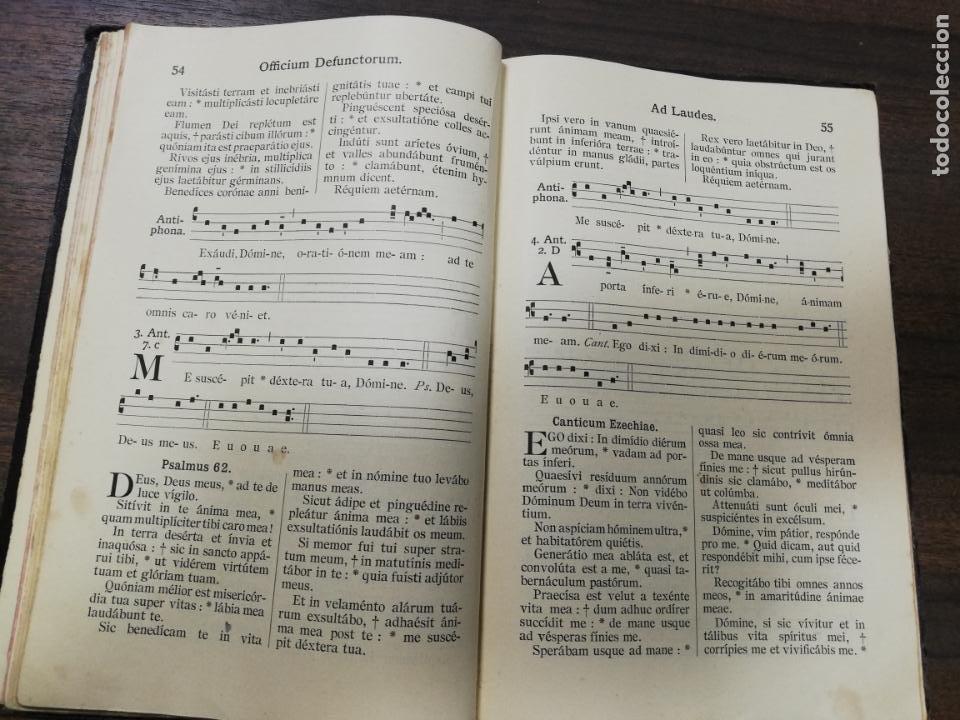 Libros antiguos: OFFICIUM ET MISSAE. PRO DEFUNCTIS CUM EXSEQUIARUM ORDINE. Nº 732. - Foto 3 - 194281215