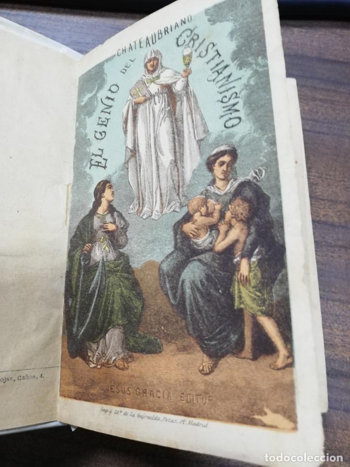 Libros antiguos: EL GENIO DEL CRISTIANISMO VIZCONDE DE CHATEAUBRIAND. SEGUNDA EDICION. 1879. - Foto 2 - 194282010