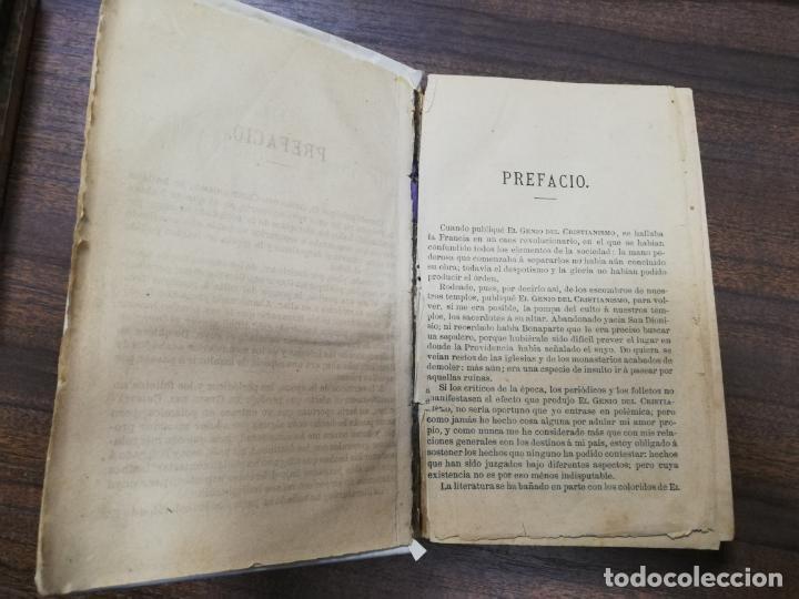 Libros antiguos: EL GENIO DEL CRISTIANISMO VIZCONDE DE CHATEAUBRIAND. SEGUNDA EDICION. 1879. - Foto 4 - 194282010