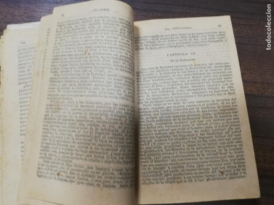 Libros antiguos: EL GENIO DEL CRISTIANISMO VIZCONDE DE CHATEAUBRIAND. SEGUNDA EDICION. 1879. - Foto 5 - 194282010