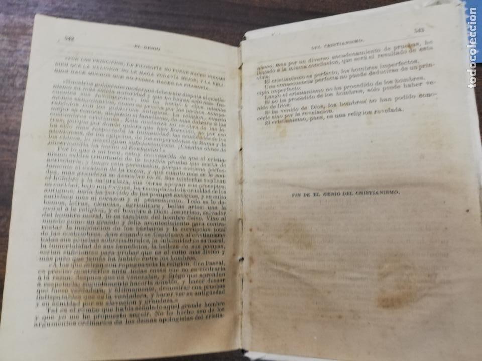 Libros antiguos: EL GENIO DEL CRISTIANISMO VIZCONDE DE CHATEAUBRIAND. SEGUNDA EDICION. 1879. - Foto 7 - 194282010