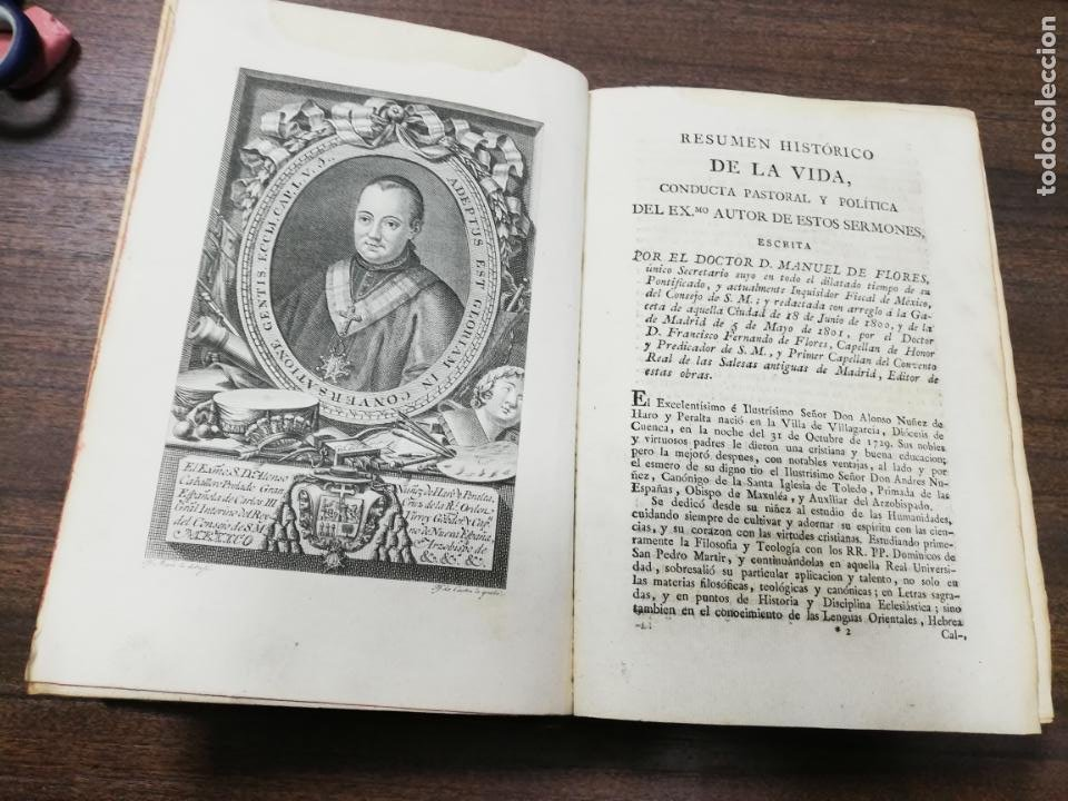 Libros antiguos: SERMONES ESCOGIDOS. PLATICAS ESPIRITUALES. D. ALONSO NUÑEZ DEHARO PERALTA. TOMO I. 1806. - Foto 3 - 194288625