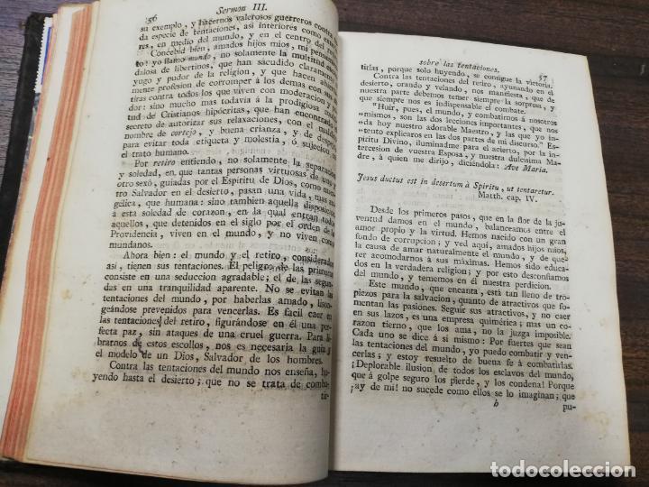 Libros antiguos: SERMONES ESCOGIDOS. PLATICAS ESPIRITUALES. D. ALONSO NUÑEZ DEHARO PERALTA. TOMO I. 1806. - Foto 5 - 194288625