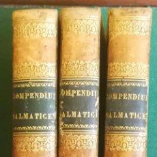 Libros antiguos: LS 30 - COMPENDIUM SALMANTICENSE 1817 - IN TRES TOMOS DISTRIBUTUM (3 VOLÚMENES) - MUY BUENOS. Lote 194351065