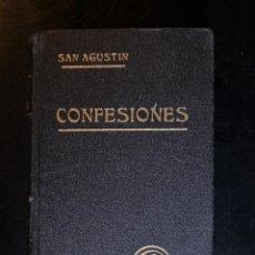 Libros antiguos: CONFESIONES. TOMO I. SAN AGUSTÍN DE HIPONA. BARCELONA 1922. - SAN AGUSTÍN DE HIPONA. Lote 194386867