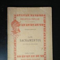 Libros antiguos: LOS SACRAMENTOS. DEL GENIO DEL CRISTIANISMO. CHATEAUBRIAND 1899. Lote 194396881