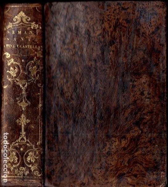 JOSEF RIGUAL . OFICIO DE LA SEMANA SANTA EN LATÍN Y CASTELLANO (PIFERRER, 1826) (Libros Antiguos, Raros y Curiosos - Religión)