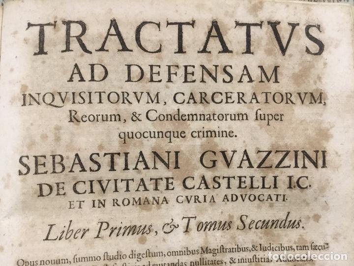 Libros antiguos: Tratado sobre la defensa de los condenados por la inquisición, Sebastiani Guazzini , Ginebra 1654 - Foto 2 - 194503938