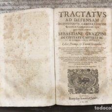 Libros antiguos: TRATADO SOBRE LA DEFENSA DE LOS CONDENADOS POR LA INQUISICIÓN, SEBASTIANI GUAZZINI , GINEBRA 1554. Lote 194503938