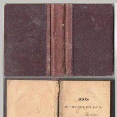 Libros antiguos: DIOS EN PRESENCIA DEL SIGLO, TOMO I - MADROLLE, A. - A-PEQUEÑO-0350. Lote 194507360