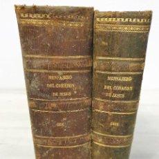 Libros antiguos: DOS TOMOS 1886 Y 1890 MENSAJERO DEL CORAZON DE JESUS. Lote 194543831