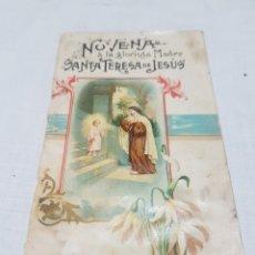Libros antiguos: NOVENA A LA GLORIOSA MADRE SANTA TERESA DE JESÚS. LOUIS ALEX SUARDI. 1904. Lote 194568260