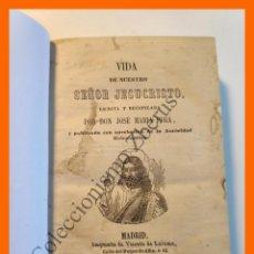 Libros antiguos: VIDA DE NUESTRO SEÑOR JESUCRISTO - VIDA DE LA SANTISIMA VIRGEN MARIA - JOSE MARÍA PUGA. Lote 194613131