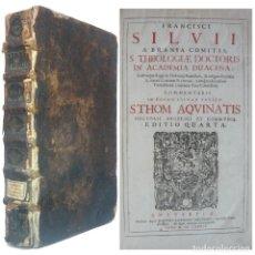 Libros antiguos: 1684 - ENORME LIBRO DEL SIGLO XVII - GRAN FOLIO DE 38 CM - SUMMA THEOLOGICA, TOMISMO. +330 AÑOS!. Lote 194859060