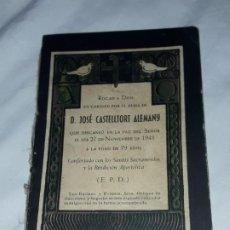 Libros antiguos: LIBRO MISA DE DIFUNTOS ESQUELA EDITORIAL BALMES AÑO 1948. Lote 194868057