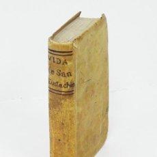 Libros antiguos: MANZINI (JUAN BAPTISTA). VIDA DE SAN EUSTAQUIO [PATRÓN DE LOS CAZADORES]. ZARAGOZA, 1725. GRABADITO. Lote 194869570