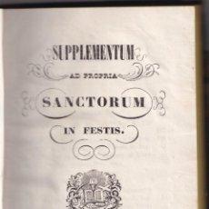 Libros antiguos: OFICIOS DE LOS SANTOS DE ELCHE Y ORIHUELA. 1794 - 1856. ALICANTE . Lote 194883357