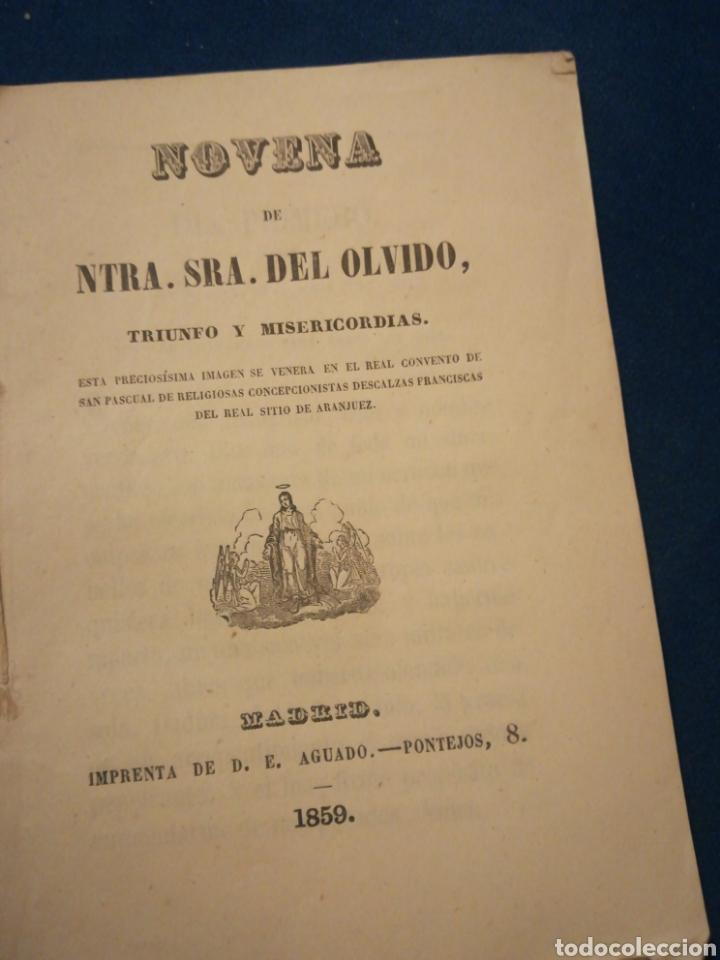 NOVENA DE NUESTRA SEÑORA DEL OLVIDO TRIUNFO Y MISERICORDIA MADRID 1959 (Libros Antiguos, Raros y Curiosos - Religión)
