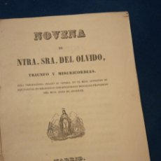 Libros antiguos: NOVENA DE NUESTRA SEÑORA DEL OLVIDO TRIUNFO Y MISERICORDIA MADRID 1959. Lote 194895016