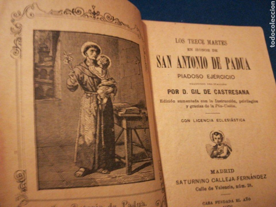 LOS TRECE MARTES EN HONOR DE SAN ANTONIO DE PADUA POR GIL DE CASTELLANA 1889 (Libros Antiguos, Raros y Curiosos - Religión)