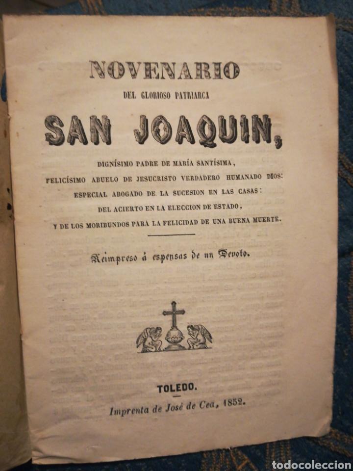 NOVENARIO DEL GLORIOSO PATRIARCA SAN JOAQUÍN TOLEDO 1856 (Libros Antiguos, Raros y Curiosos - Religión)