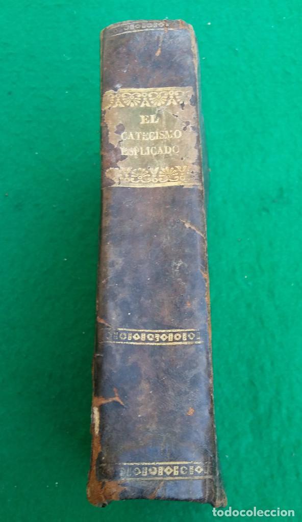 Libros antiguos: ESCASO LIBRO CATECISMO DE LA DOCTRINA CRISTIANA EXPLICADO, 1843, CUBIERTA EN PIEL. - Foto 2 - 194896762