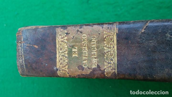 Libros antiguos: ESCASO LIBRO CATECISMO DE LA DOCTRINA CRISTIANA EXPLICADO, 1843, CUBIERTA EN PIEL. - Foto 3 - 194896762