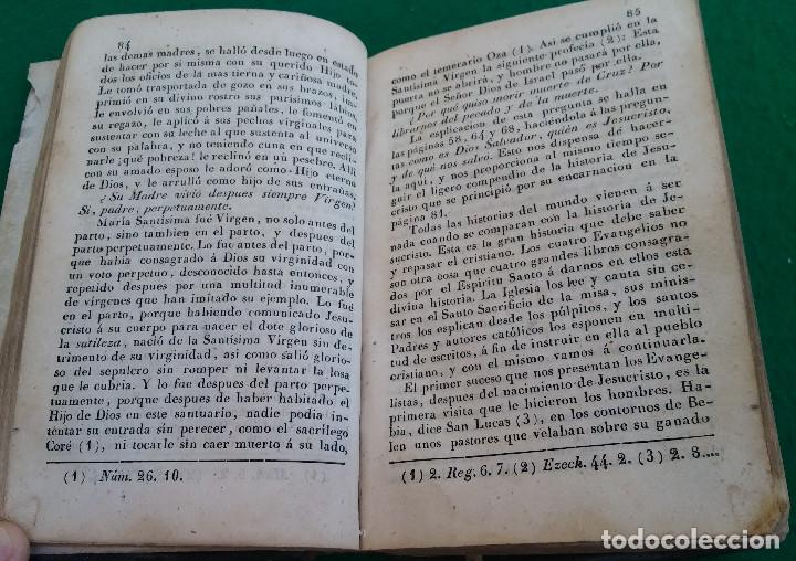 Libros antiguos: ESCASO LIBRO CATECISMO DE LA DOCTRINA CRISTIANA EXPLICADO, 1843, CUBIERTA EN PIEL. - Foto 4 - 194896762