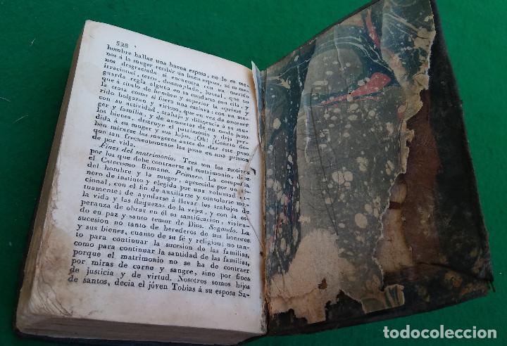 Libros antiguos: ESCASO LIBRO CATECISMO DE LA DOCTRINA CRISTIANA EXPLICADO, 1843, CUBIERTA EN PIEL. - Foto 5 - 194896762