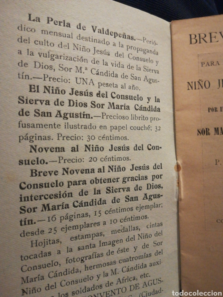 Libros antiguos: Breve Novena para alcanzar gracias del Nlño del Consuelo por José A Fariña El Escorial 1931 - Foto 2 - 194900231