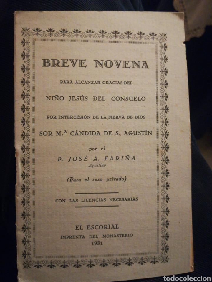 BREVE NOVENA PARA ALCANZAR GRACIAS DEL NLÑO DEL CONSUELO POR JOSÉ A FARIÑA EL ESCORIAL 1931 (Libros Antiguos, Raros y Curiosos - Religión)