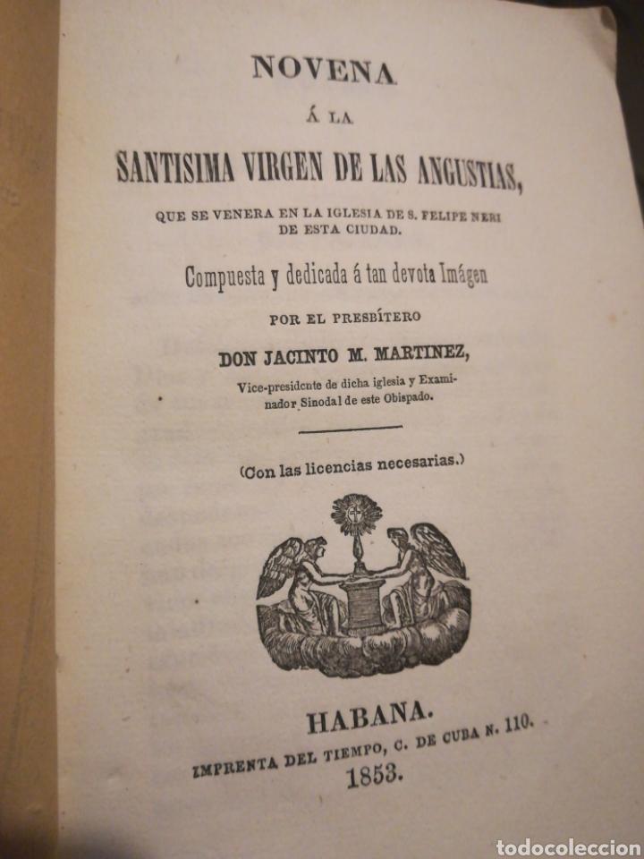 Libros antiguos: Novena a la Virgen de las Angustias por Jacinto M Martínez 1853 - Foto 2 - 194903882