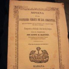 Libros antiguos: NOVENA A LA VIRGEN DE LAS ANGUSTIAS POR JACINTO M MARTÍNEZ 1853. Lote 194903882
