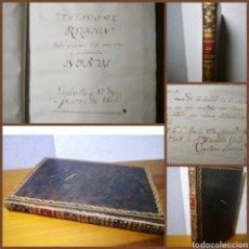 Libros antiguos: 1805 (MANUSCRITO) - TRATADO DE RELIGIÓN, POR CAYETANO LANUZA PARA EL USO Y ENSEÑANZA DE NIÑOS. Lote 194975161